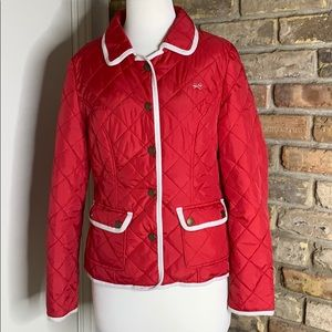 Tommy Girl quilted puffer jacket  red size Large